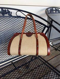 Designer John Romain Purse Handbag - doctor bag - casual by NotJustOldVintage on Etsy https://www.etsy.com/listing/222758986/designer-john-romain-purse-handbag