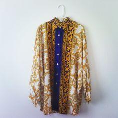 Blouse gold T.L via Cotton