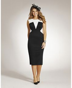 Monochrome Illusion Dress - Simplybe :: super smart color blocking