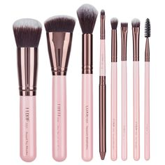 Looking for a makeup brush set? Our brush sets offer all-in-one value for a variety of makeup types, formulas, and applications. Shop makeup brush sets at Luxie today! Makeup Brush Storage, Makeup Brush Cleaner, Makeup Brush Holders, Makeup Organization, Full Makeup Brush Set, Makeup Set, Makeup Ideas, Face Brush Set, Brush Sets