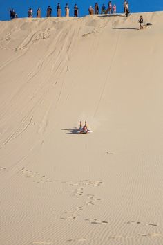 Bucket list - Go sand boarding on Moreton Island in Queensland, Australia. Visit our blog for more fun things to do on Moreton!