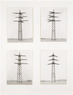 Bernd & Hilla Becher, FOUR ELECTRICAL TOWERS