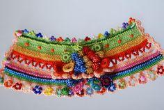 Handmade crochet bracelet. Freeform Crochet by KaterinaDimitrova