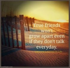 Sad when you lose friends, sometimes without notice or for no apparent reason. But it's refreshing when TRUE friends never let anything come between you, big or small. Big thanks to my REAL friends :)
