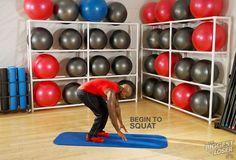 Step 2: Begin to squat. #DolvettsBurpee #BiggestLoser