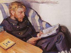Boris Serebriakov, 1908 Zinaida Evgenievna Serebriakova (Rússia,  1884-- 1967) óleo sobre tela