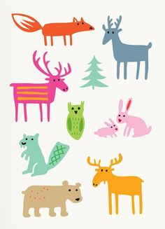 'Woodland Animals' by Bengt and Lotta