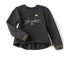 IKKS Paris Cat Sweatshirt (235 RON) ❤ liked on Polyvore featuring tops, hoodies, sweatshirts, sweatshirts & hoodies, embroidered sweatshirts, cat hoodie, sweatshirt hoodies, cotton sweatshirts and quilted sweatshirt