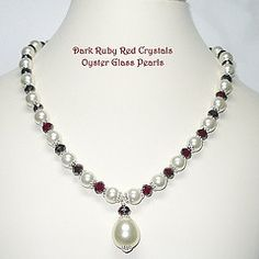 Silver Heart Cascading Genuine Ruby Necklace