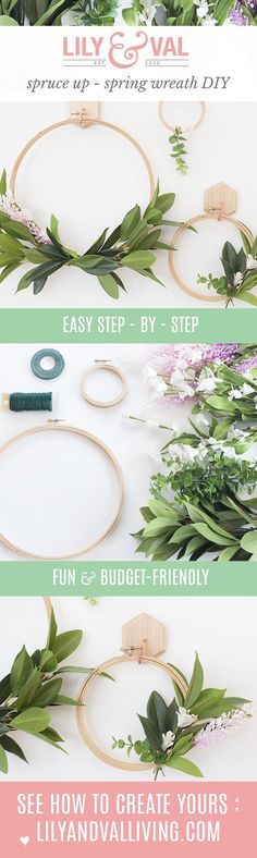 DIY Spring Faux Wrea