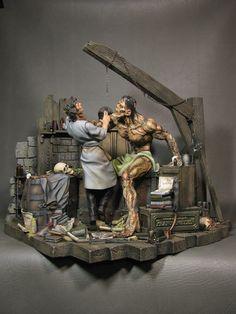 Sideshow Productions' Bernie Wrightson Frankenstein vinyl kit, built and painted by Steve Riojas. Fantasy Model, Fantasy Art, Plastic Model Kits, Plastic Models, Statues, Bernie Wrightson, Frankenstein's Monster, Classic Monsters, Fantasy Miniatures