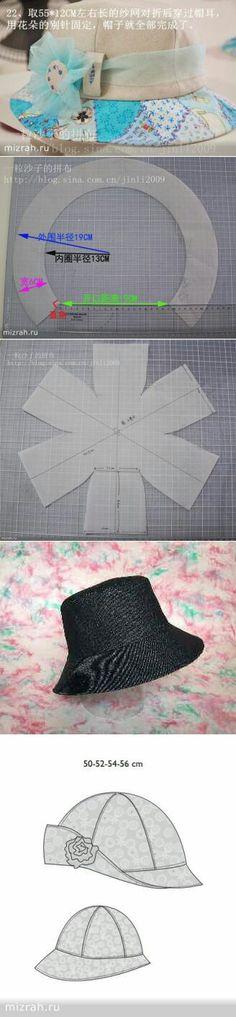 Cartamodello cappello da donna