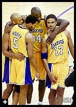 Brian Shaw, Robert Horry, Shaquille O'Neal, Rick Fox
