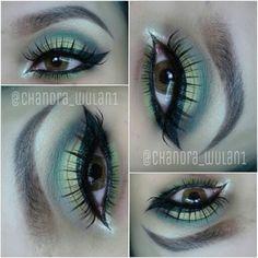 Soft Green eye makeup