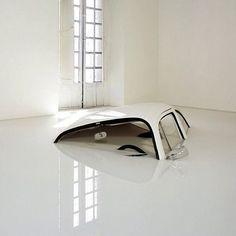 Car Sinking in Melting Floor — Designspiration