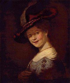 Rembrandt Harmensz. van Rijn: Porträt der Saskia van Uijlenburgh als junges Mädchen - Gemeinfrei