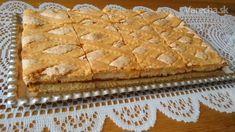 Tvarohovo-orechový mrežovník - Recept Apple Pie, Bread, Recipes, Cakes, Basket, Brot, Cake, Apple Pies, Breads