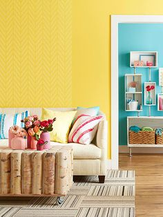 Jazz up boring walls with a little pattern and panache. These five techniques are sure to do the trick: http://www.bhg.com/decorating/paint/room/wall-painting-ideas/?socsrc=bhgpin050814wallpaintideas