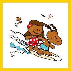✰ ALOHA〜 ハワイでサーフィンしたよ! 真っ黒に焼けたよ〜〜 っていう妄想。 #寒すぎる #寒いのほんまダメ #早く春か夏きて #ハワイ行きたい #ハワイインパ #行きたい場所多すぎ #真ん中の女子は私 #妄想ばっかりw #SNOOPY #surfsnoopy #illust #illustrator #illustration #drawing #fanart #イラスト #スヌーピー