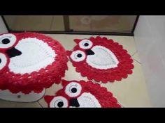 Jogo de banheiro corujinha feliz DIY - YouTube