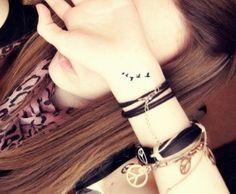 Bird tattoos : wrist tattoo