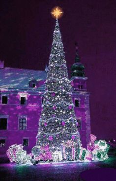Happy New Year GIF # happy # new- # christmas crafts crafts crafts crafts money money ideas crafts crafts Christmas Tree Gif, Christmas Scenery, Purple Christmas, Beautiful Christmas Trees, Christmas Love, Christmas Wishes, Christmas Pictures, Christmas Greetings, Winter Christmas