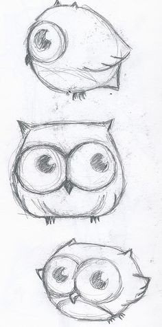 Cute little owl drawings