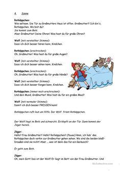 Märchen Rotkäppchen   Pinterest   Rotkäppchen, Arbeitsblätter und ...