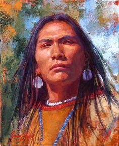 james ayers | James Ayers Native American Indian art - Cheyenne Brave
