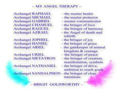 Archangels Therapy. Repinned by An Angel's Touch, LLC, d/b/a WCF Commercial…