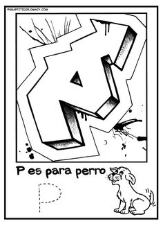 Alphabet Coloring Pages For Kids Books Spanish Street Culture Airbrush Hip Hop Graffiti Parents