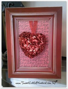 Sweet Little Bluebird: DIY Framed Valentine's Day Decor