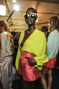 Backstage Diane von Furstenberg S/S 2013 www.Fashion-with-Style.com