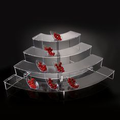Catering Display Stands | Acrylic Catering Display Stand - Transparent Plexiglass Display ...