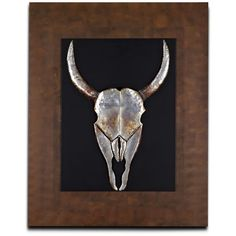 Animal Skull Mixed Media Painting (350 CAD) ❤ liked on Polyvore featuring home, home decor, wall art, mixed media painting, skull wall art, animal skulls, skull home decor and mixed media wall art