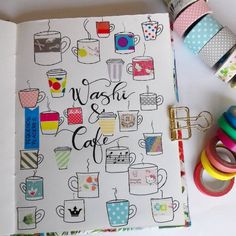 20 Creative Washi Tape Swatch Layouts For Your Bullet Journal is part of Planner Organization Washi Tape - Are you a washi tape collector Me too! Here are 20 different creative washi tape swatch layouts for you to use in your bullet journal! Washi Tape Dorm, Washi Tape Laptop, Washi Tape Planner, Washi Tape Crafts, Washi Tapes, Masking Tape, Washi Tape Uses, Bullet Journal Washi Tape, Bullet Journal Layout