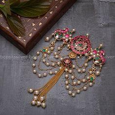 Jewelry Design Earrings, Gold Earrings Designs, Gold Jewellery Design, Beaded Jewelry, Gold Designs, Antique Jewellery, Hair Jewelry, Gold Wedding Jewelry, Bridal Jewelry Sets