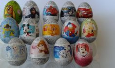 10 Chocolate Surprise Eggs MIX YOUR FAVOURITE DISNEY CHARACTERS not kinder #Zaini