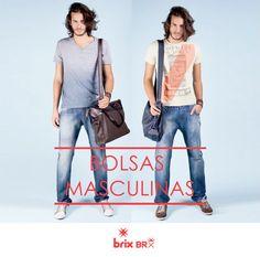 Bolsas Masculinas: fica lindo!!!  #estilobrix
