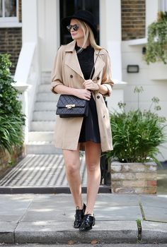 Topshop trench + oxfords