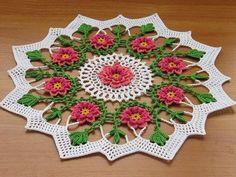caminos de mesa a crochet colores - Buscar con Google