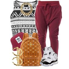 Black, White, n' Burgundy., created by livelifefreelyy on Polyvore