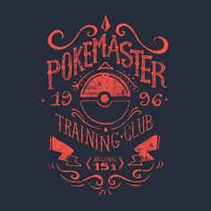 Pokemaster Training Club T-Shirt $12.99 Pokemon tee at Pop Up Tee!