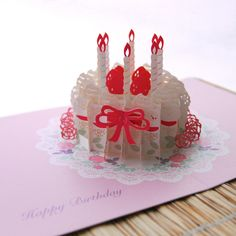 3D pop up birthday card. Just found out it's a 2014 Trendys nominee!