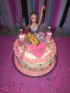 Bachelorette party drunk Barbie cake with alcohol homemade Drunk Barbie Cake, Barbie Funny, Bridal Shower Party, Bridal Showers, Bachelorette Lingerie Party, Alcohol Cake, 21st Bday Ideas, Party Cakes, Marry Me
