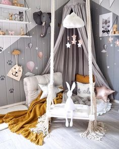 Kids' Room Trends for 2018 The trend of Escapism has grown to be a dominant influence on kids' room design. That means creating a haven of calm and tranquility for the little ones. This can be achieved through a fantasy theme where the little explorers could get lost in their wonderful adventures, or a more laid back, minimal approach where they'll seek time to relieve themselves of stress and discover a sense of inner calm. SampleBoard Blog