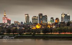 "mike13mt:  ""Warsaw night skyline by javiezquerroezk  """