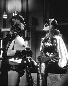 """""""Batman"""" Adam West & Yvonne Craig, """"Batwoman"""", (1967)."""