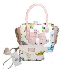 BETSEY JOHNSON MEDIUM FLORAL ROPE CHAIN TOTE & wallet  CROSS BODY HANDBAG BLUSH in Clothing, Shoes & Accessories, Women's Handbags & Bags, Handbags & Purses | eBay