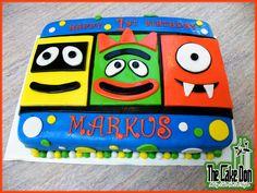 YO GABBA GABBA CAKE 1st Birthday  by THE CAKE DON